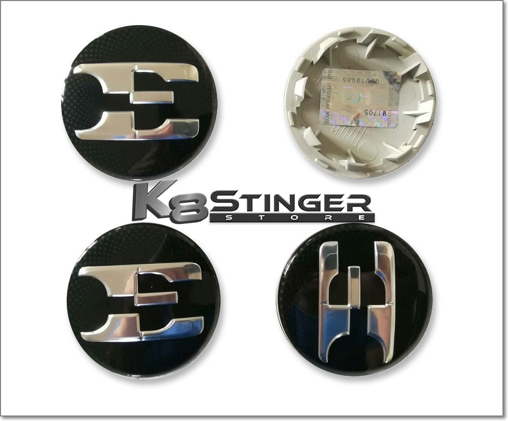 Kia Stinger wheel cap logos