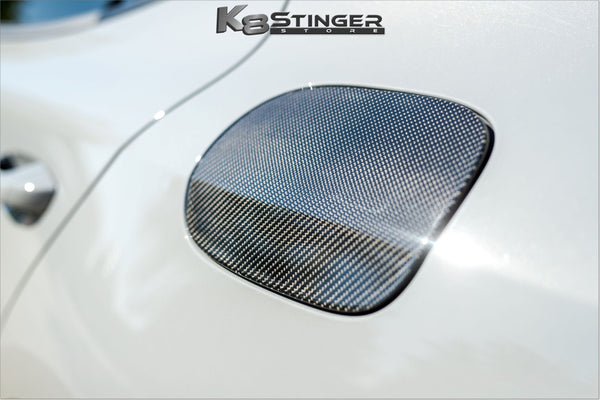 Kia Stinger Carbon Fiber Fuel Door