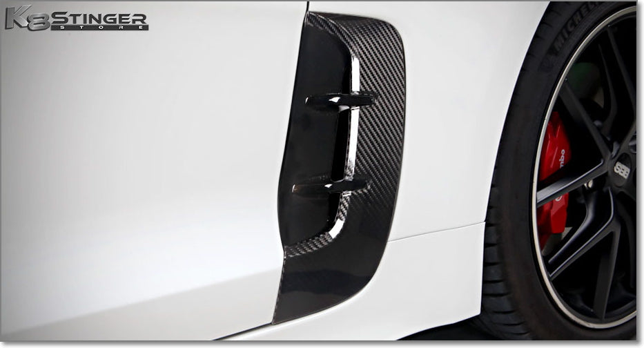 Kia Stinger factory carbon fiber fender vents
