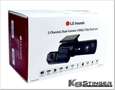 LG Innotek 2-Channel Front & Rear 1080p/720p Dashcam