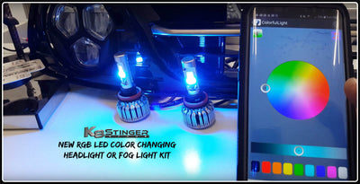 Kia Stinger RGB Color Changing LED Headlight Kit