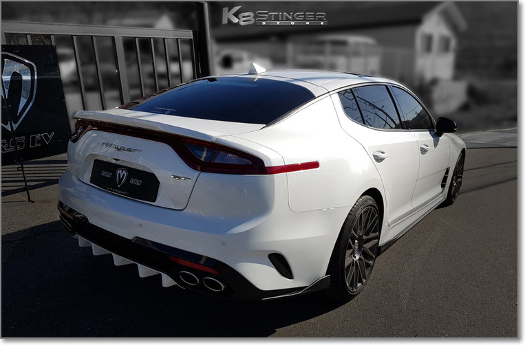 Kia Stinger White Rear Lip
