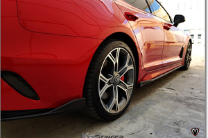 kia stinger rear bumper lip