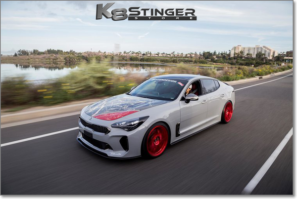 Kia Stinger Spreek by KEENDESIGN Carbon Fiber Front Lip
