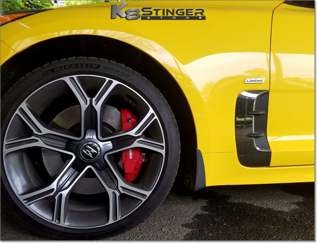 "Kia Stinger OEM GT ""E"" Logo 18"" & 19"" Wheel Cap Set"