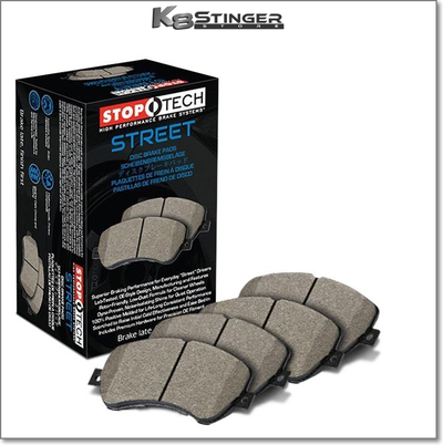 Kia Stinger GT - Stoptech Performance - Front & Rear Street Ceramic Brake Pads