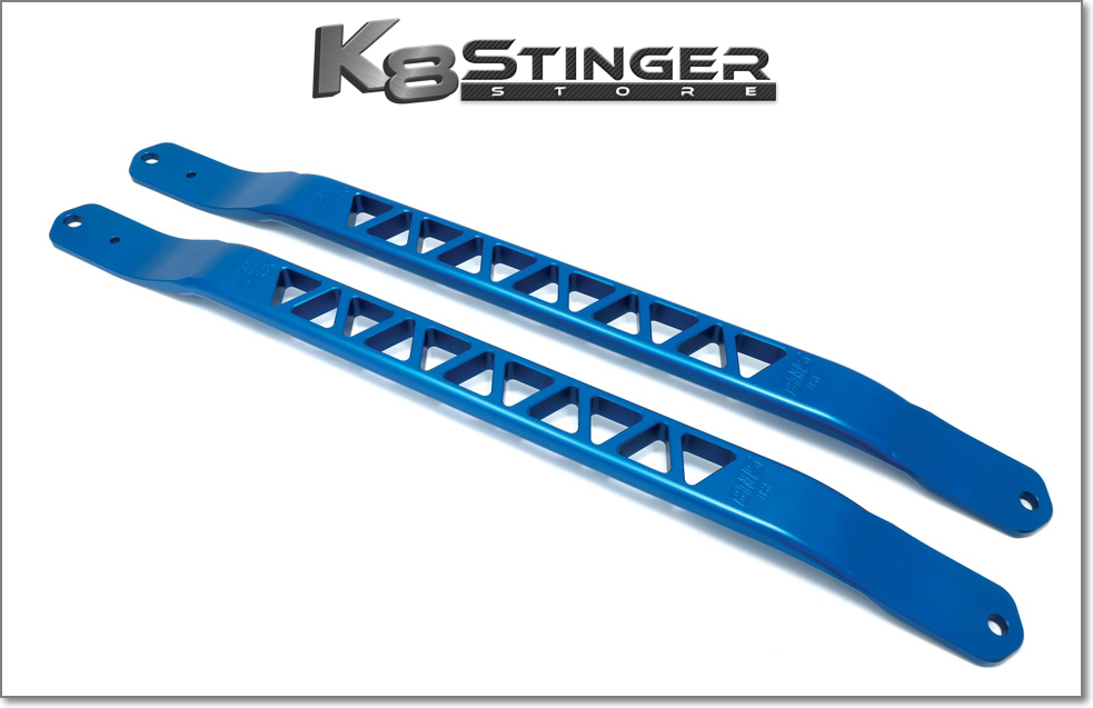 Blue Kia Stinger Strut Braces