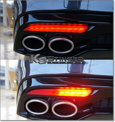 Kia Stinger Standard or Sequential LED Bumper Reflectors Lights