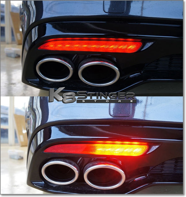 Kia Stinger Standard or Sequential LED Bumper Reflector Lights