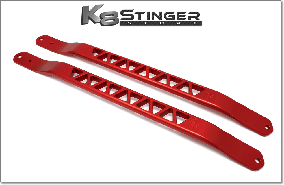 Red Kia Stinger Strut Braces