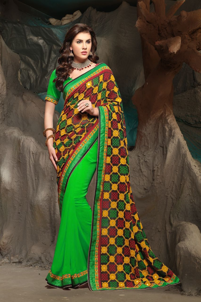 ca322f8c04d782 Heavy designer partywear sarees with very heavy embroidery work pallu –  RRsales