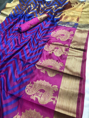 BEAUTIFUL SOFT COTTON SILK SAREE