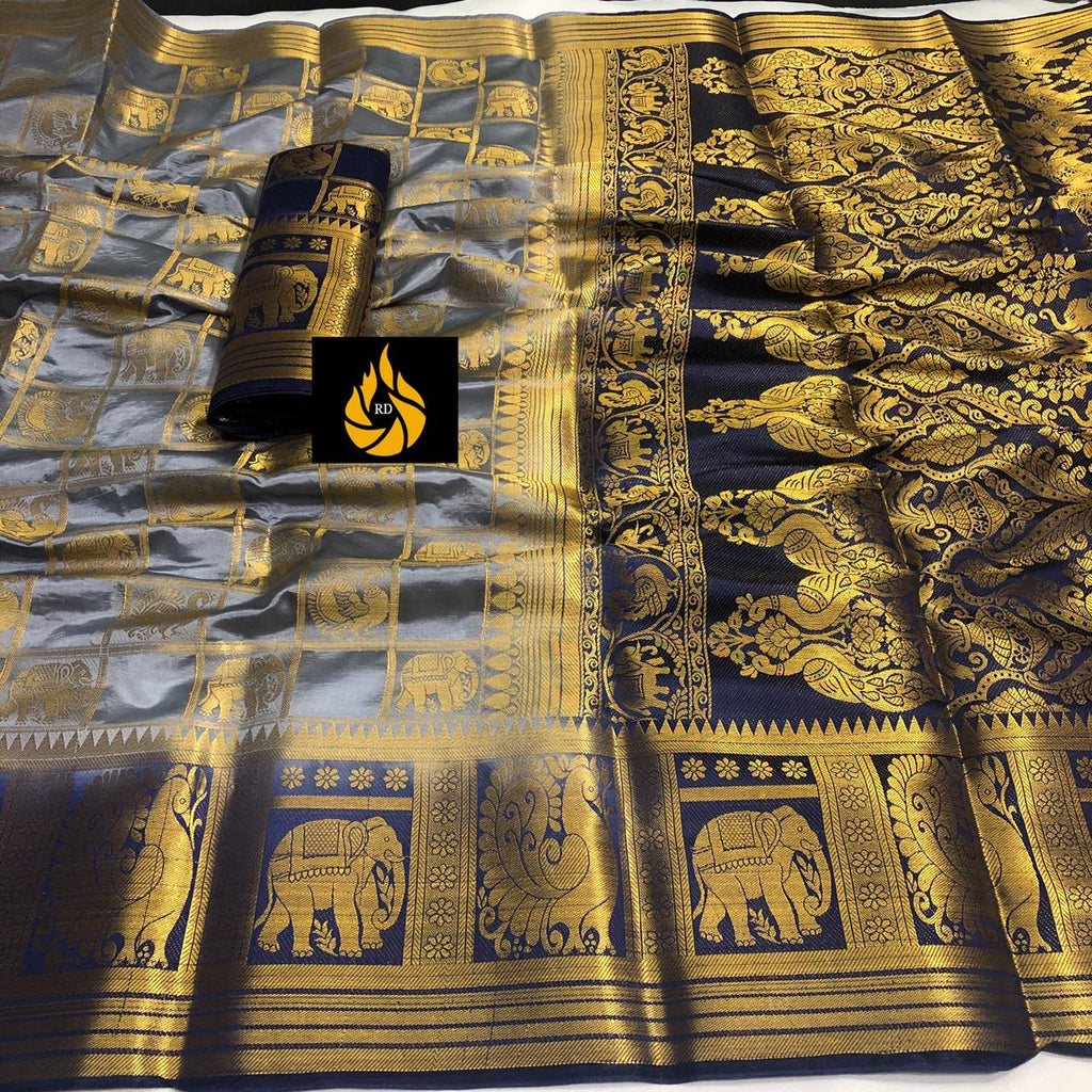 BEAUTIFUL NAYLON SILK SAREE WITH RICH PALLU