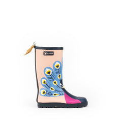 Woodypop Fun Rubber Boots <br> Peacock