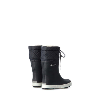 Giboulee Rubber Boots <br> Marine/White