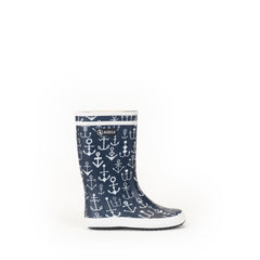 Lolly Pop Rubber Boots <br> Anchor Print
