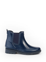 Carville Rubber Ankle Boots <br> Indigo