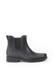 Carville Rubber Ankle Boots <br> Black