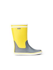 Malouine Rubber Boots- Lemony/Grey
