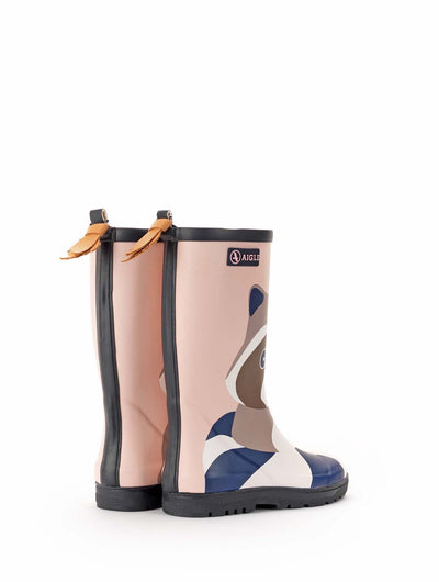 Woodypop Fun Rubber Boots <br> Raccoon