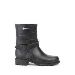 Macadames Mid Rubber Boots <br> Black