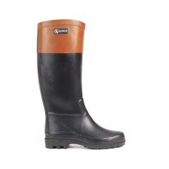 Aiglentine® Colour Block Rubber Boots <br> Black/Amber