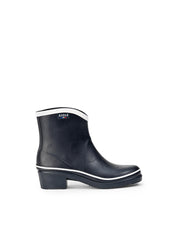 Miss Juliette Pop Rubber Ankle Boots <br> Navy