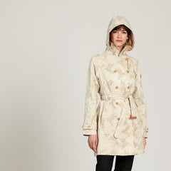 Attalea Trench Coat <br> Beige Print