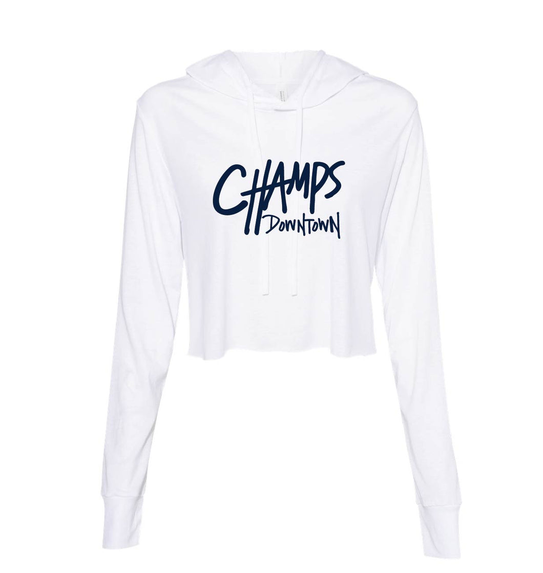 Champs Women's Long Sleeved Cropped Hoodie
