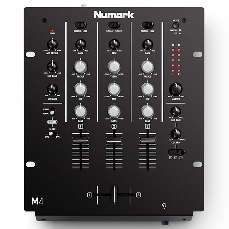 MEZCLADORA NUMARK M4 BLACK 3 CHANNEL