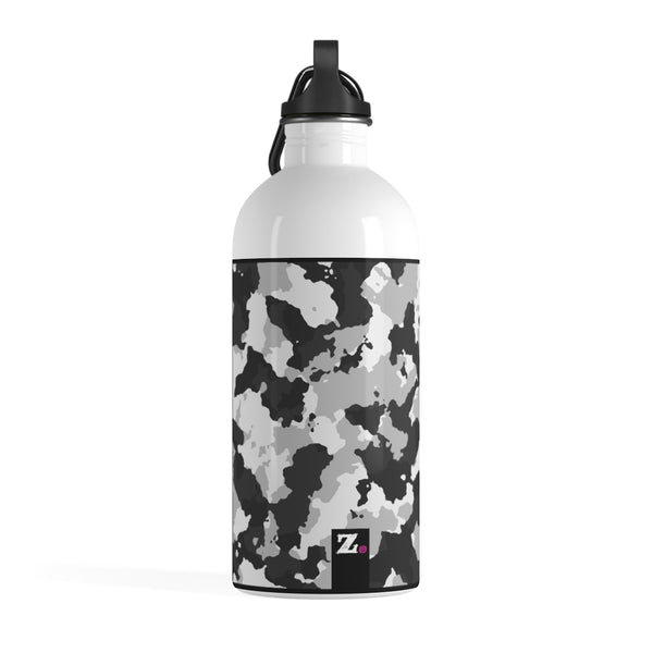 Camo White Yoga Water Bottle