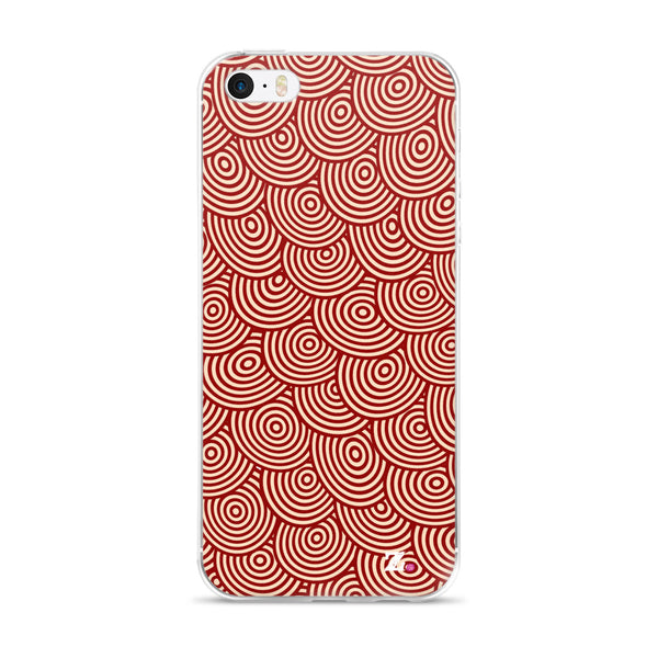 Red Swirl iPhone Case