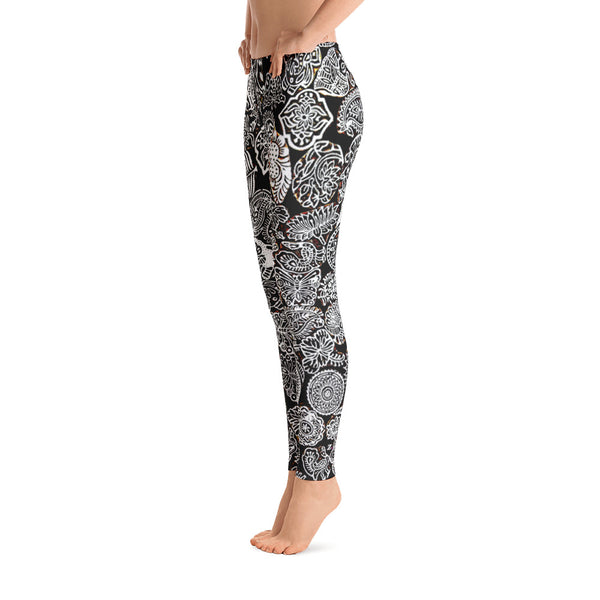 Black & White Doodles Leggings