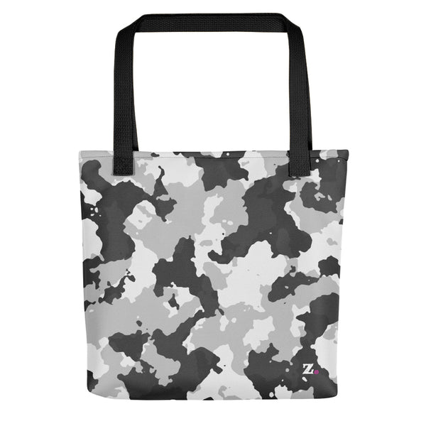 Camo White Tote Bag