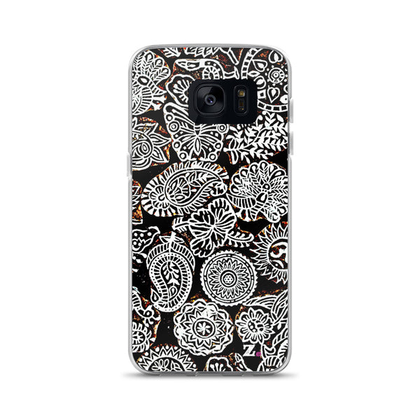 Black & White Doodles Samsung Phone Case
