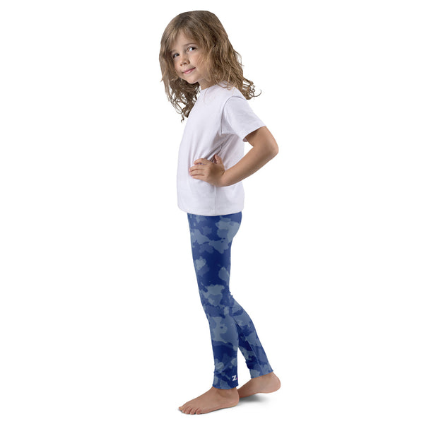 Camo Blue Kid's leggings