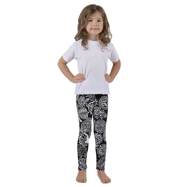 Black & White Doodles Kids Leggings