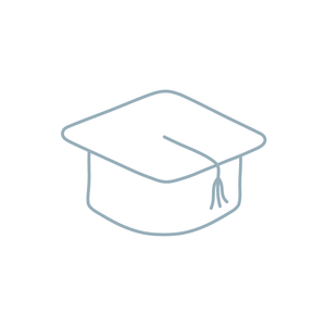 graduation cap illustration icon