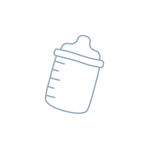 baby bottle illustration icon