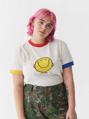 Lazy Oaf x Mr. Men Mr. Happy Colour Block T-Shirt
