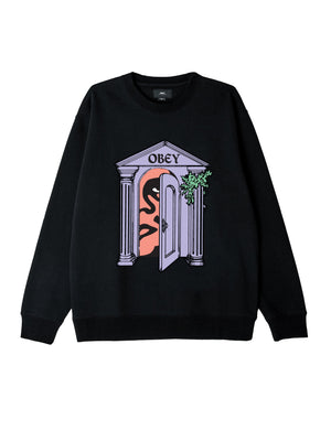 Obey Mausoleum Box Fit Crewneck