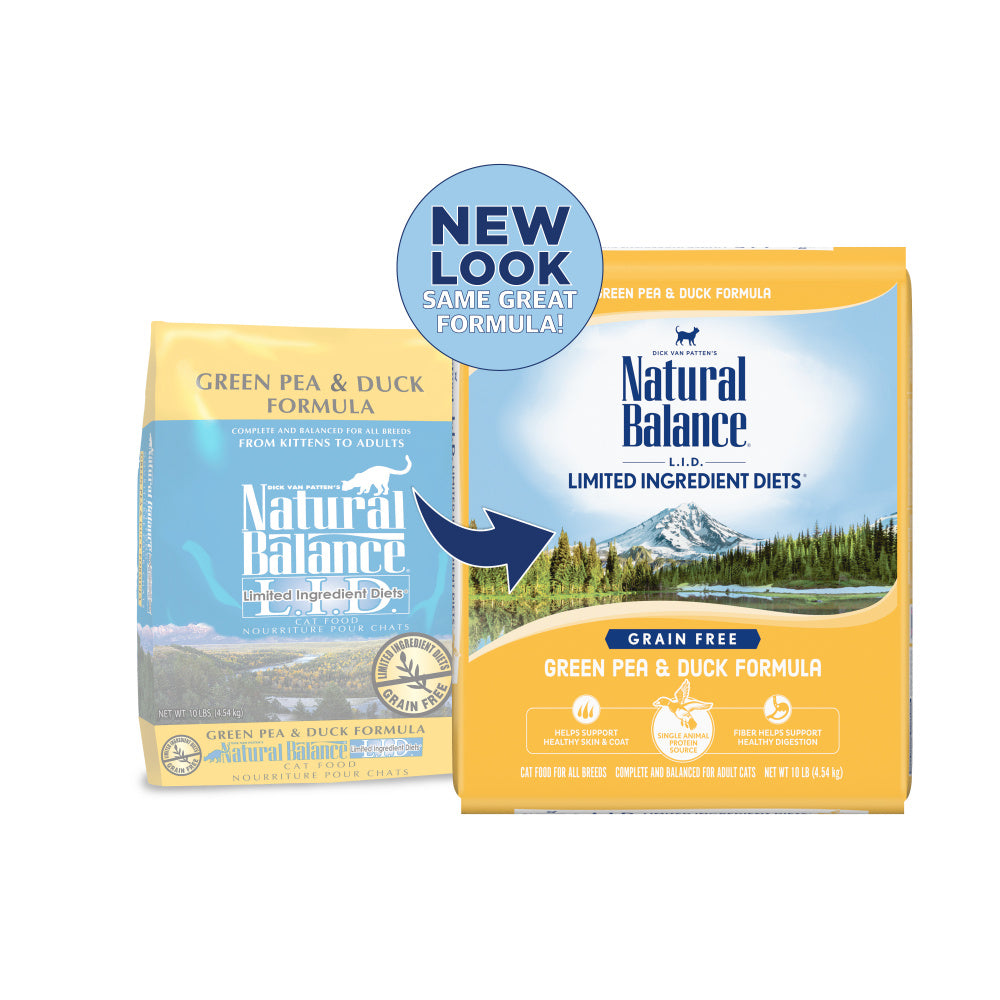 Natural Balance L.I.D. Limited Ingredient Diets Green Pea and Duck Dry Cat Food