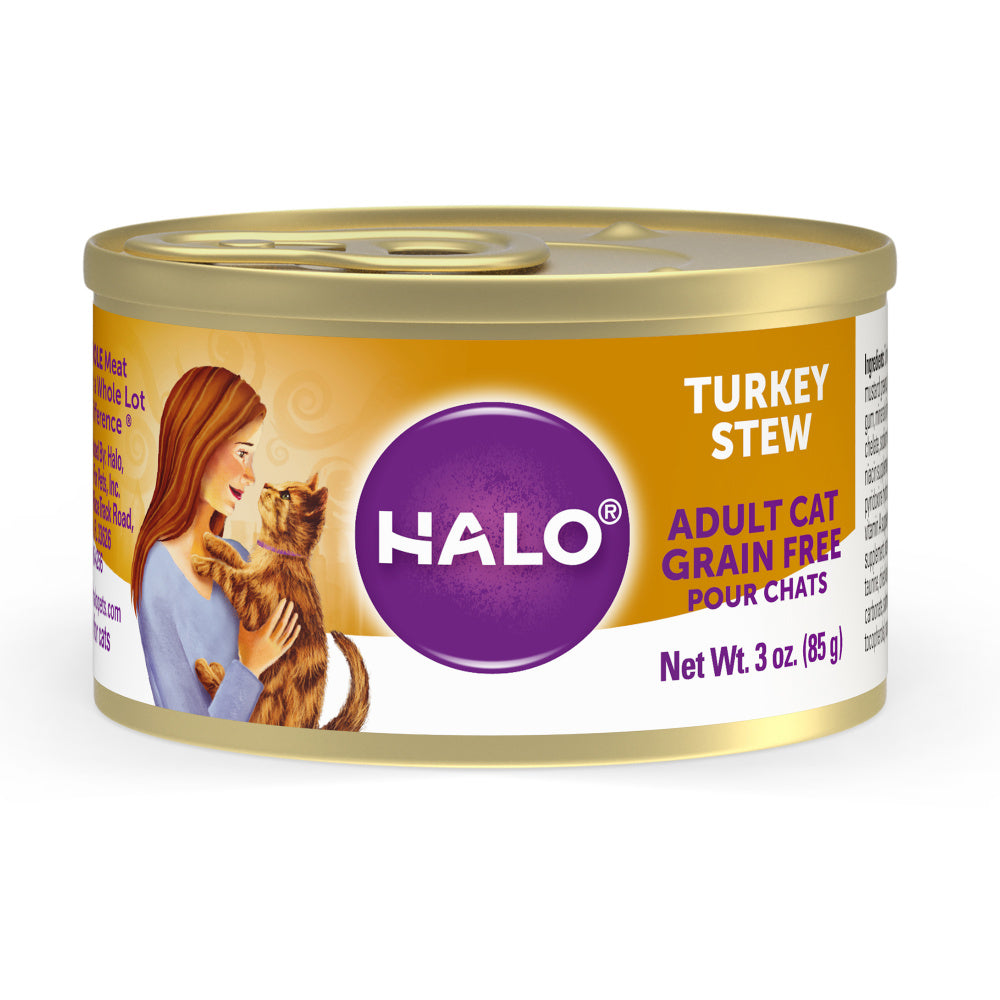 Halo Holistic Grain Free Adult Turkey Stew Canned Cat Food
