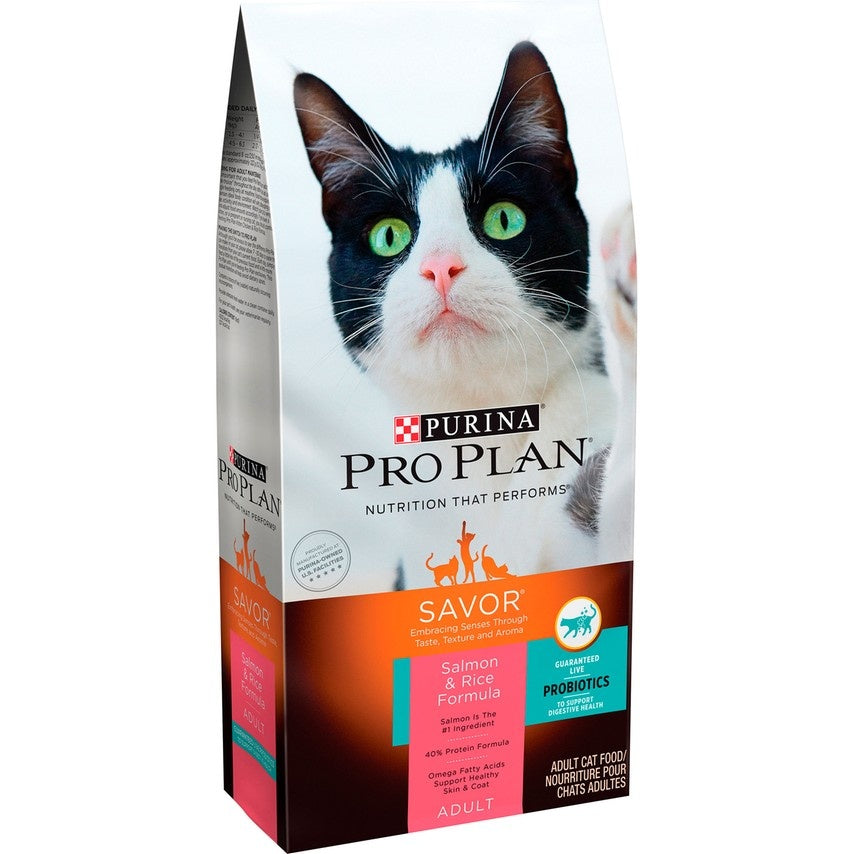 Purina Pro Plan Savor Adult Salmon & Rice Formula Dry Cat Food