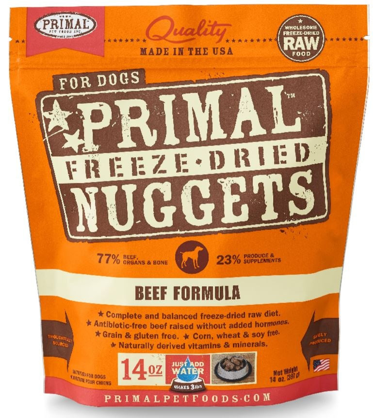 Primal Freeze Dried Nuggets Grain Free Beef Formula Dog Food