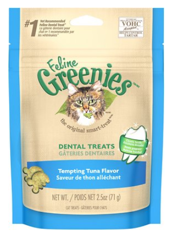Greenies Feline Dental Tempting Tuna Flavor Cat Treats