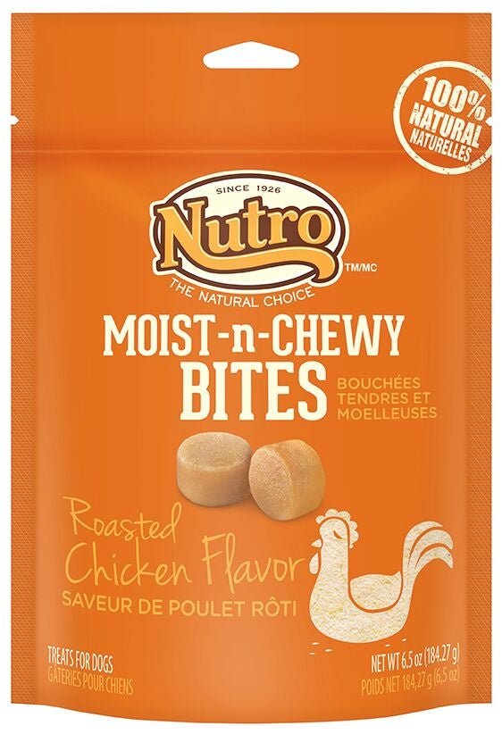 Nutro Moist-n-Chewy Bites Roasted Chicken Flavor Dog Treats