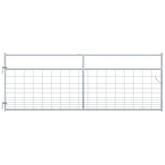Galvanized Gate with wire covering (hog mesh)