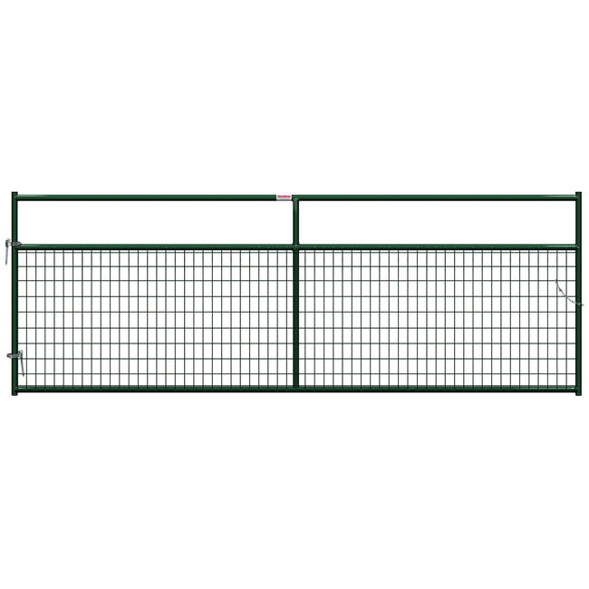 Green Gate with wire covering