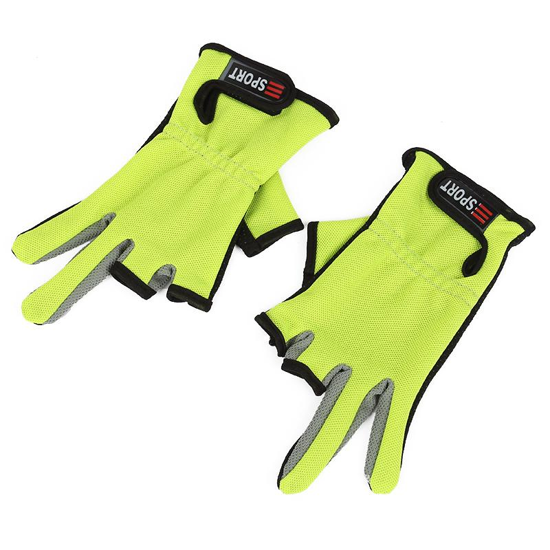 1 Pair ANTI-SLIP 3 Low Fingers Fishing Gloves